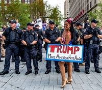 Protestor and Police RNC 2016