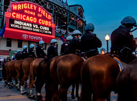 Police and Vendors at the Cubs World Series